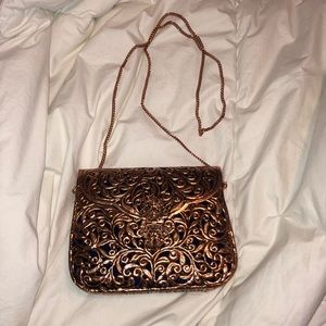Elegant copper chain bag